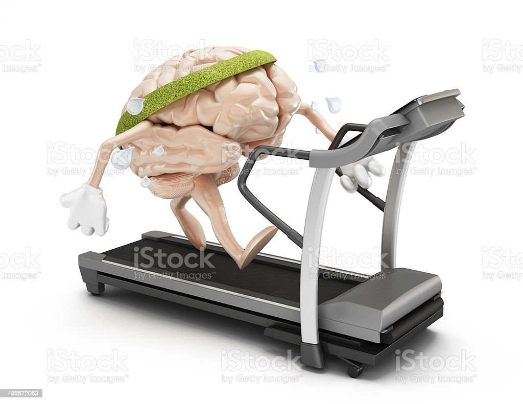 Fit brain stock photo