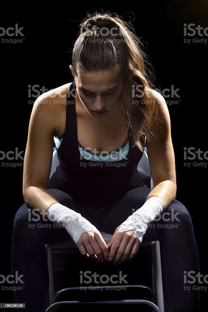 Fit Female Mma Fighter Sitting On A Black Background Stock Photo Download Image Now Istock Here is it, our top 10 best female fighters. 2