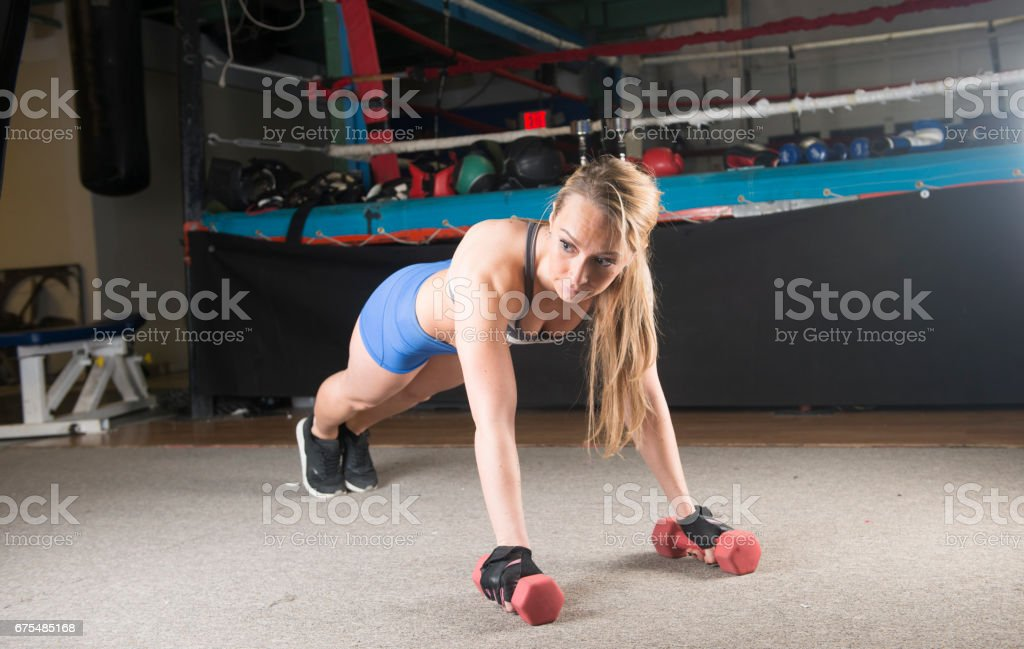Fit gritty woman royalty-free stock photo