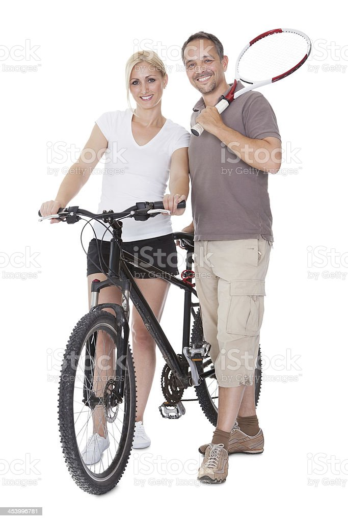 Fit healthy middle-aged parents royalty-free stock photo