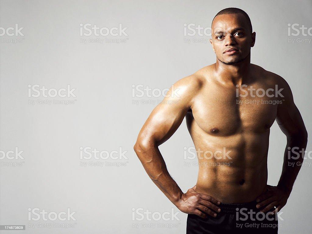 Fit Man stock photo