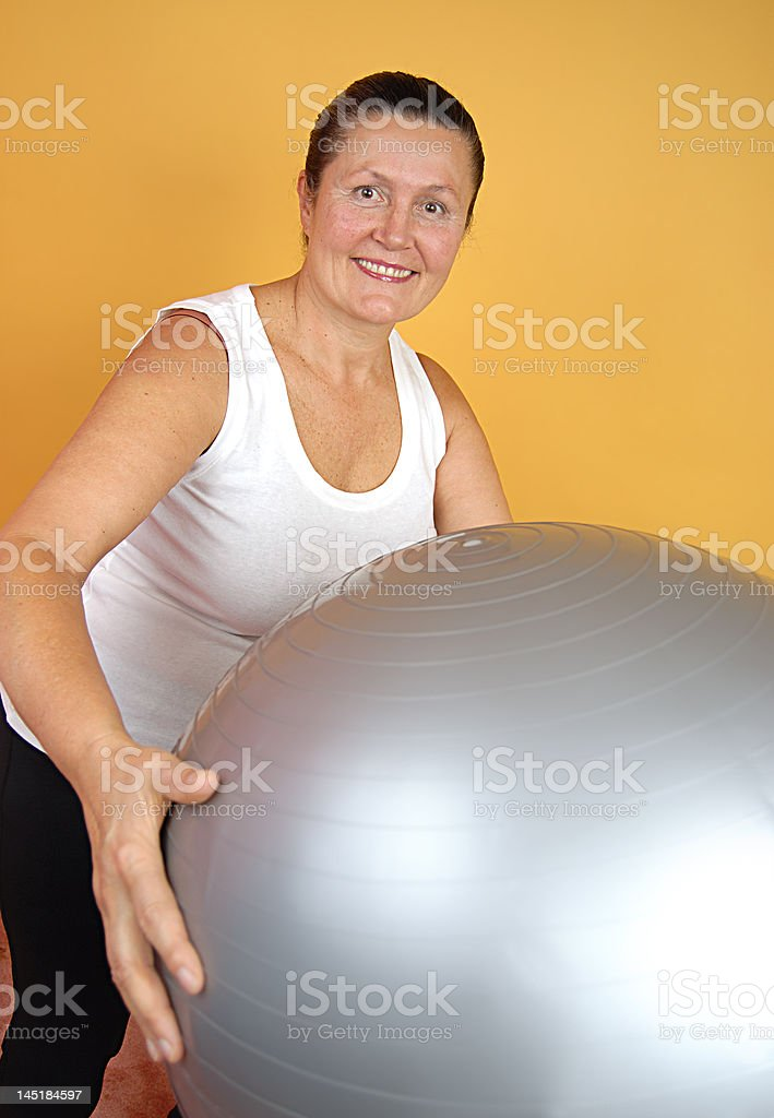 Fit, mature woman royalty-free stock photo
