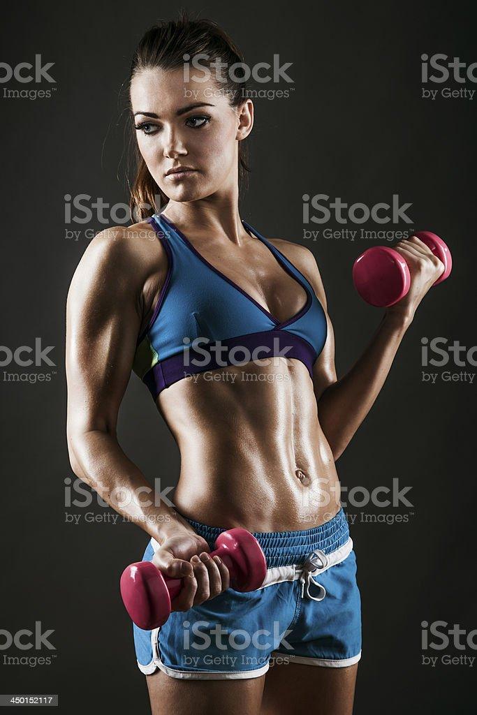 Fit Muskeln weibliche Fitnesstraining – Foto