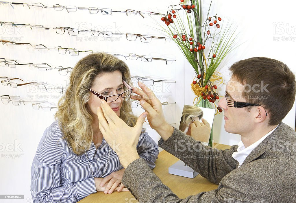 fit new eye glasses royalty-free stock photo