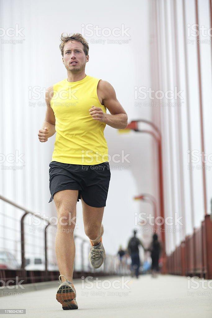 Fit runner running stock photo