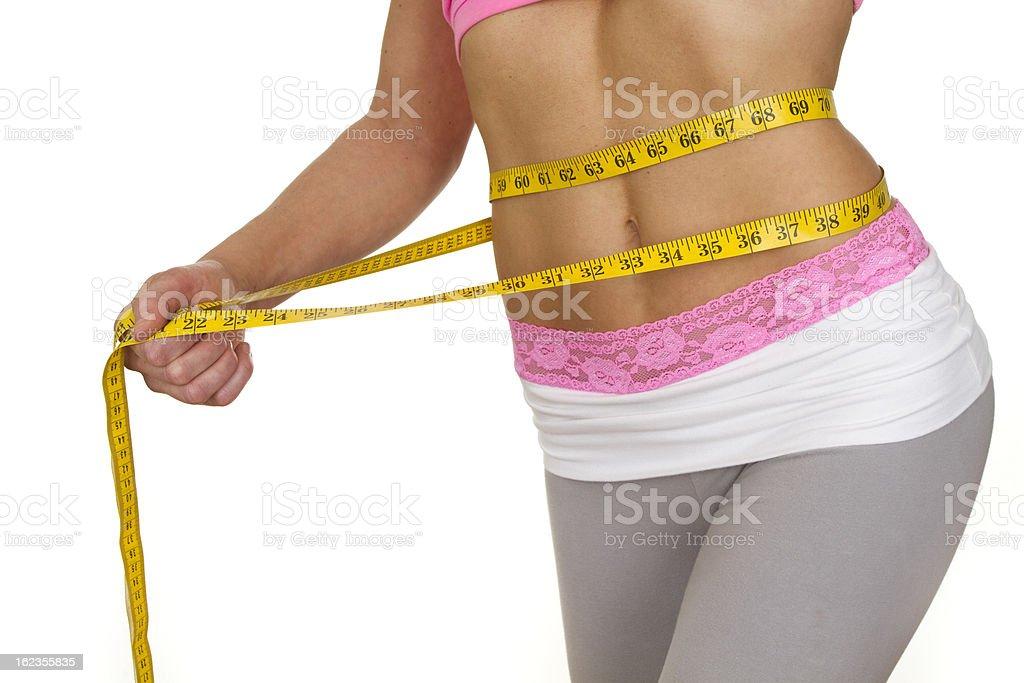 fit torso measuring waist royalty-free stock photo