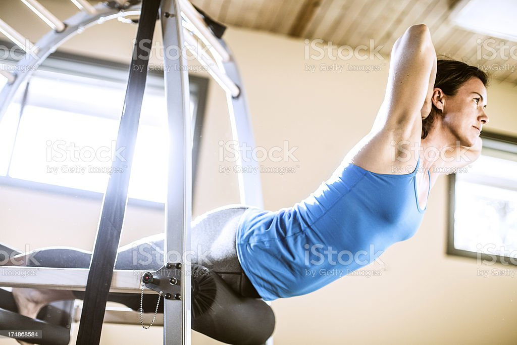 Fit Woman Exercising stock photo