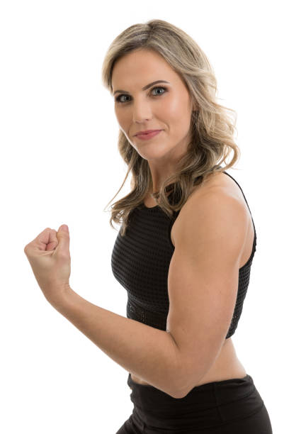 Royalty Free Women Flexing Muscles Bicep Human Arm Pictures, Images And Stock Photos -4564