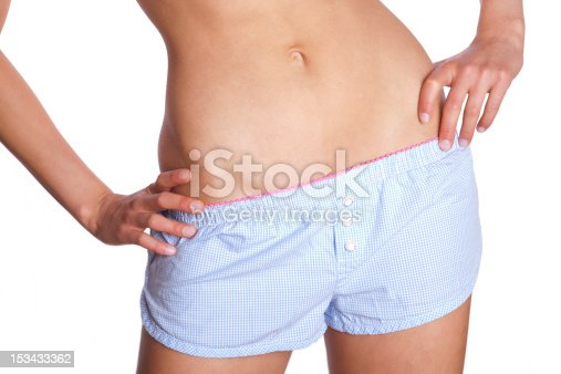istock fit woman with shorts 153433362