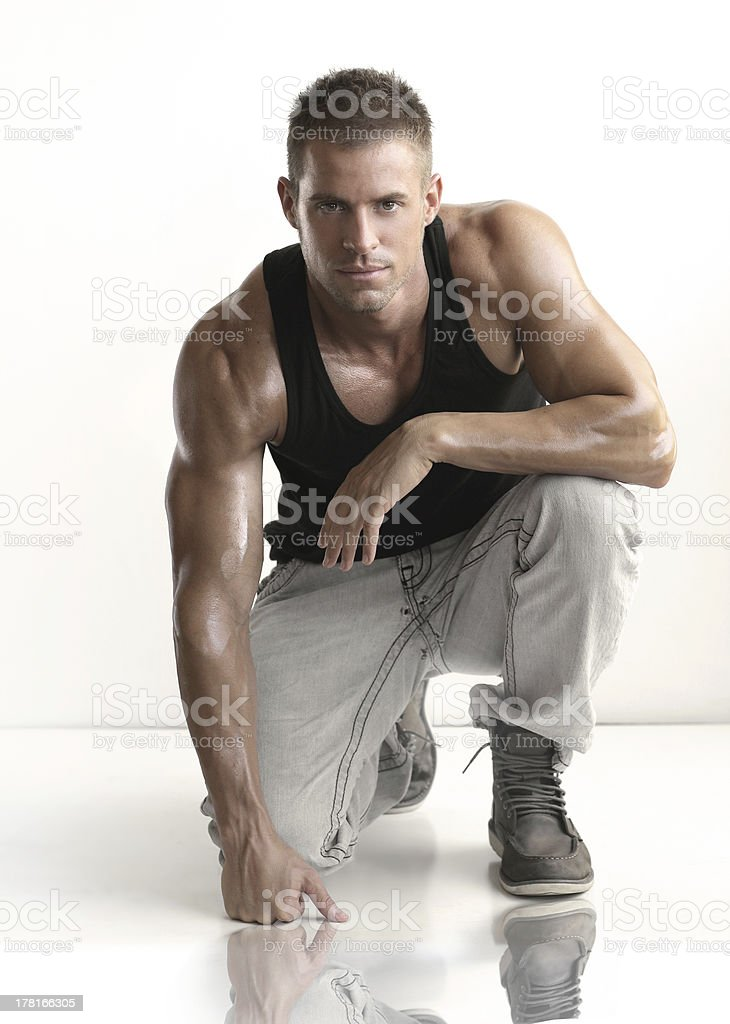 Fit young male stock photo