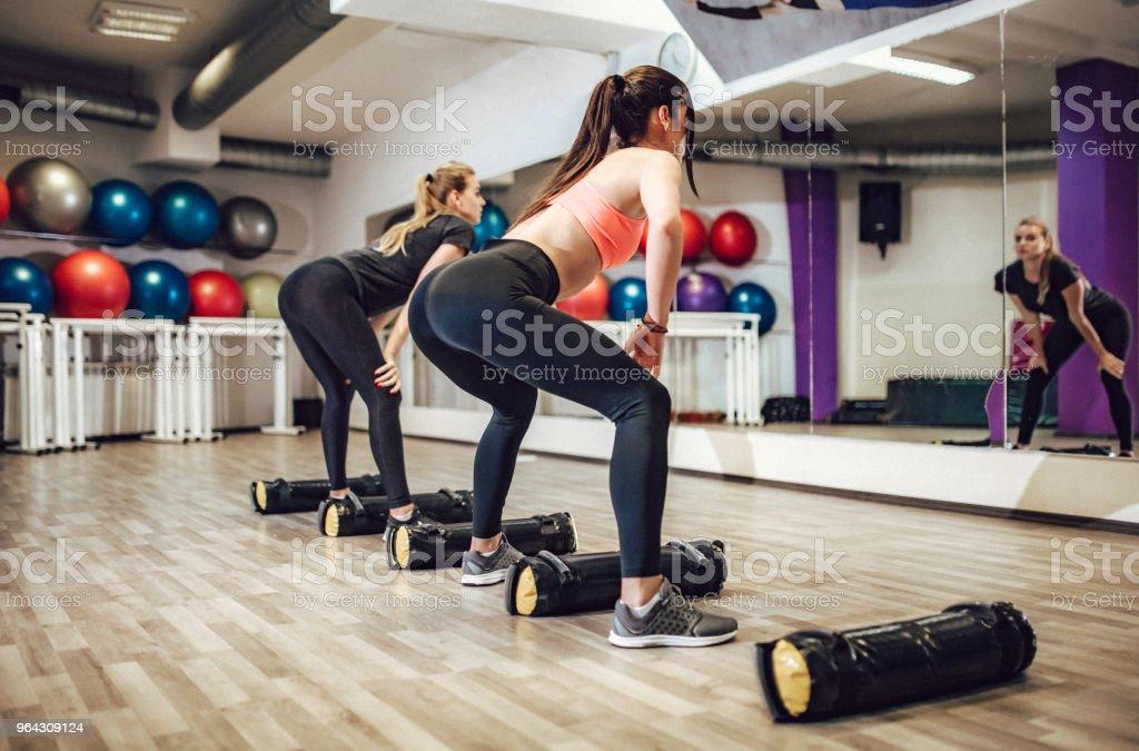 Fitnes coach stock photo