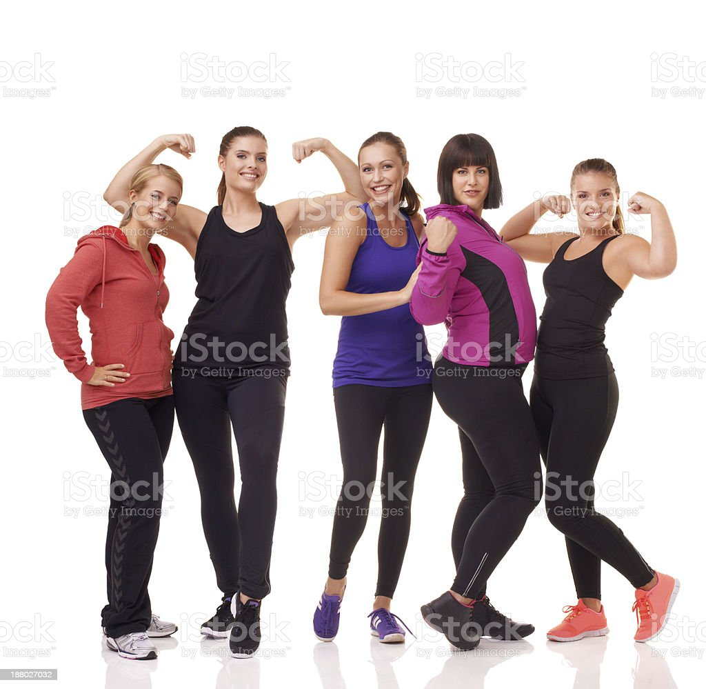 Fitness 101: Get great gym buddies! stock photo