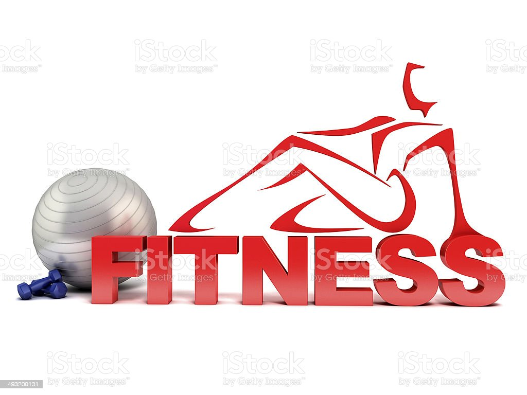 fitness 3d concept stock photo