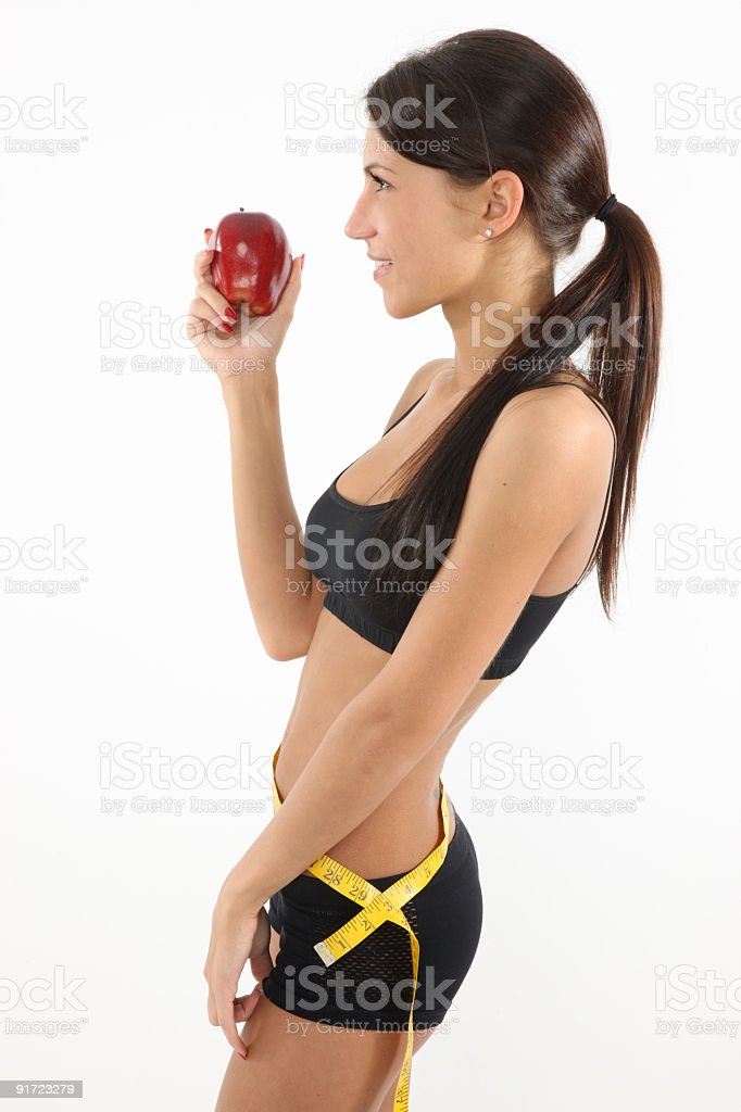 Fitness and diet for a great look royalty-free stock photo