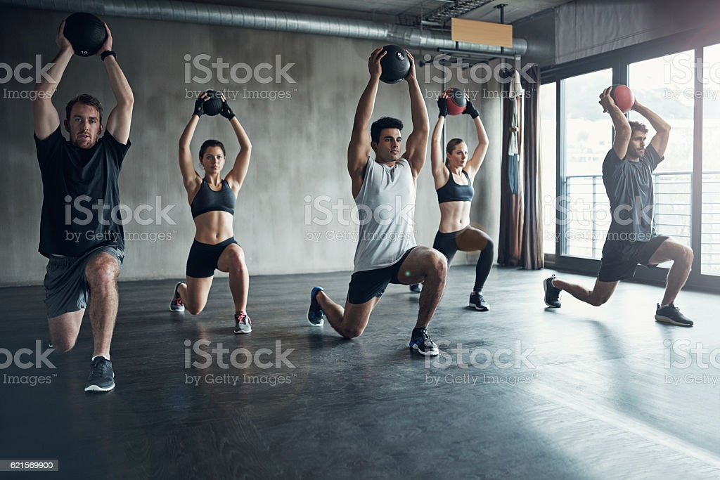 Fitness and fun rolled into one stock photo