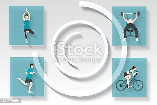 istock Fitness and health app menu 692778554