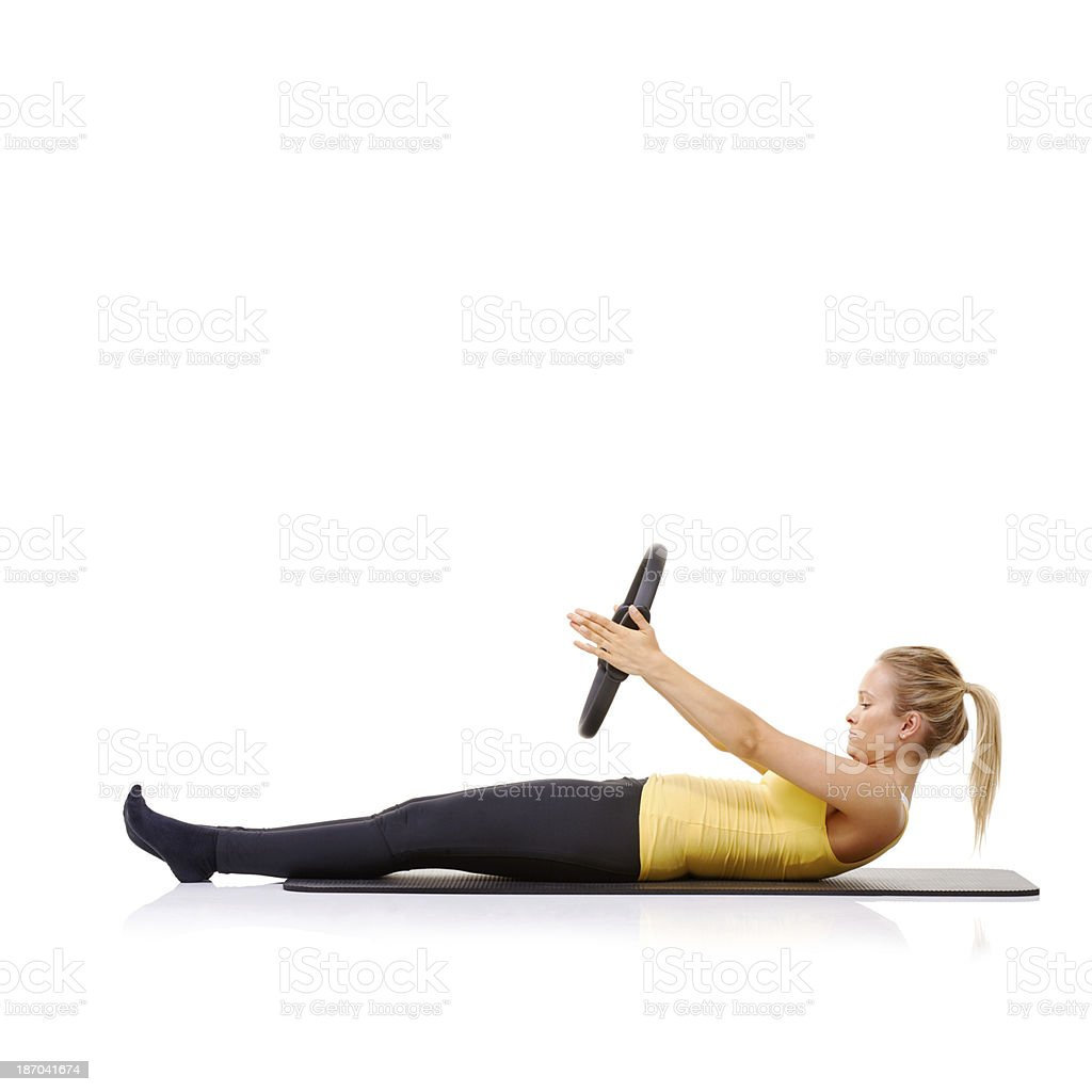 Fitness and health are important to her royalty-free stock photo