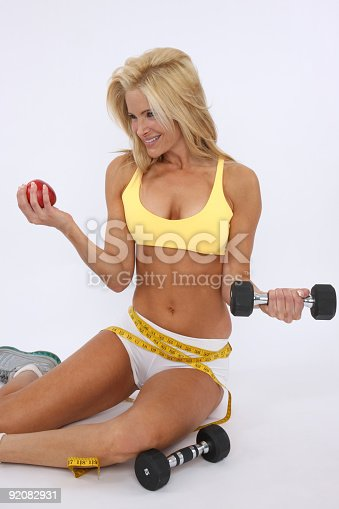 91837830 istock photo Fitness and healthy eating gives a great result 92082931