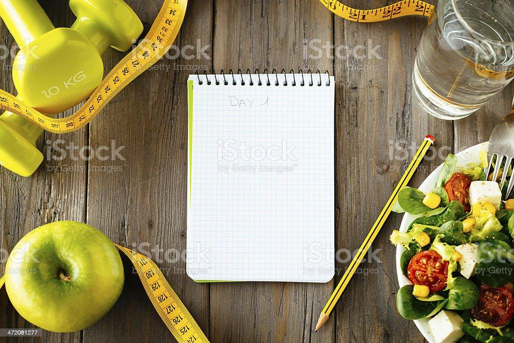 Fitness und gesundes Essen lifestyle Konzept – Foto