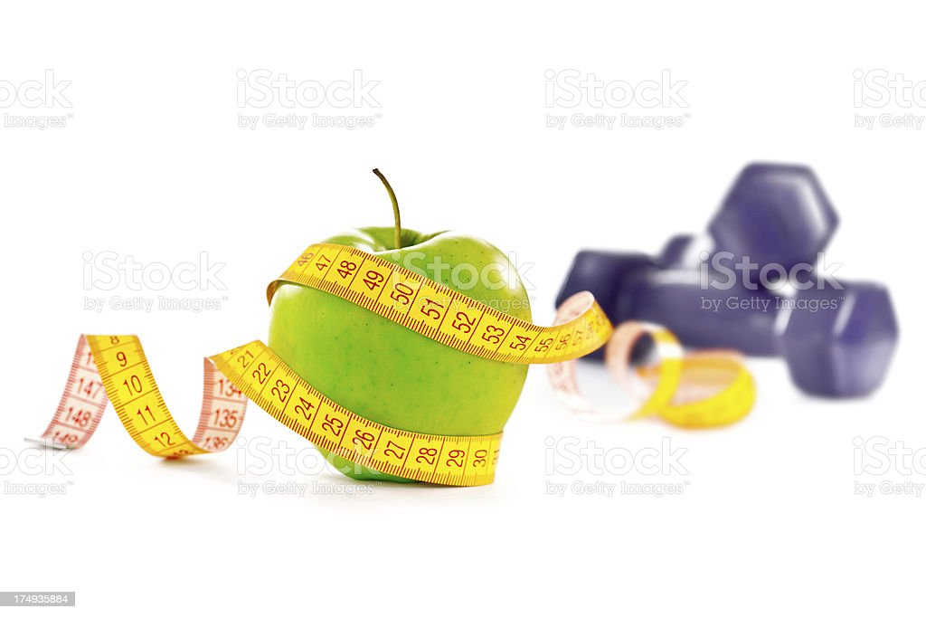 Fitness and loss royalty-free stock photo