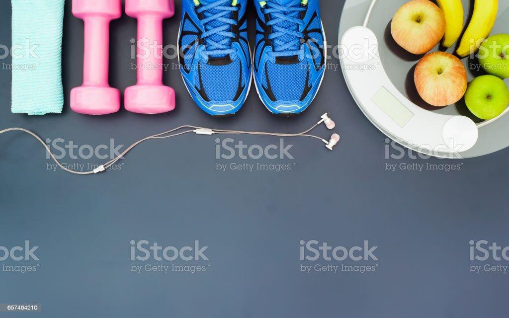 Fitness ve kilo kaybı kavramı, stok fotoğrafı