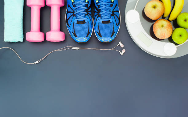 Fitness e o conceito de perda de peso, - foto de acervo