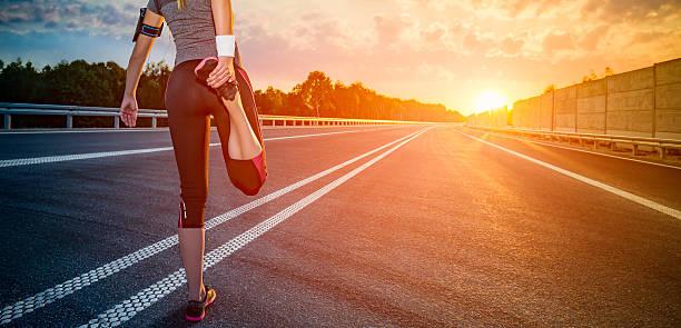 fitness and workout wellness concept. - straßentraining stock-fotos und bilder