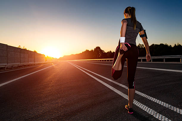fitness and workout wellness concept. - marathon stock photos and pictures