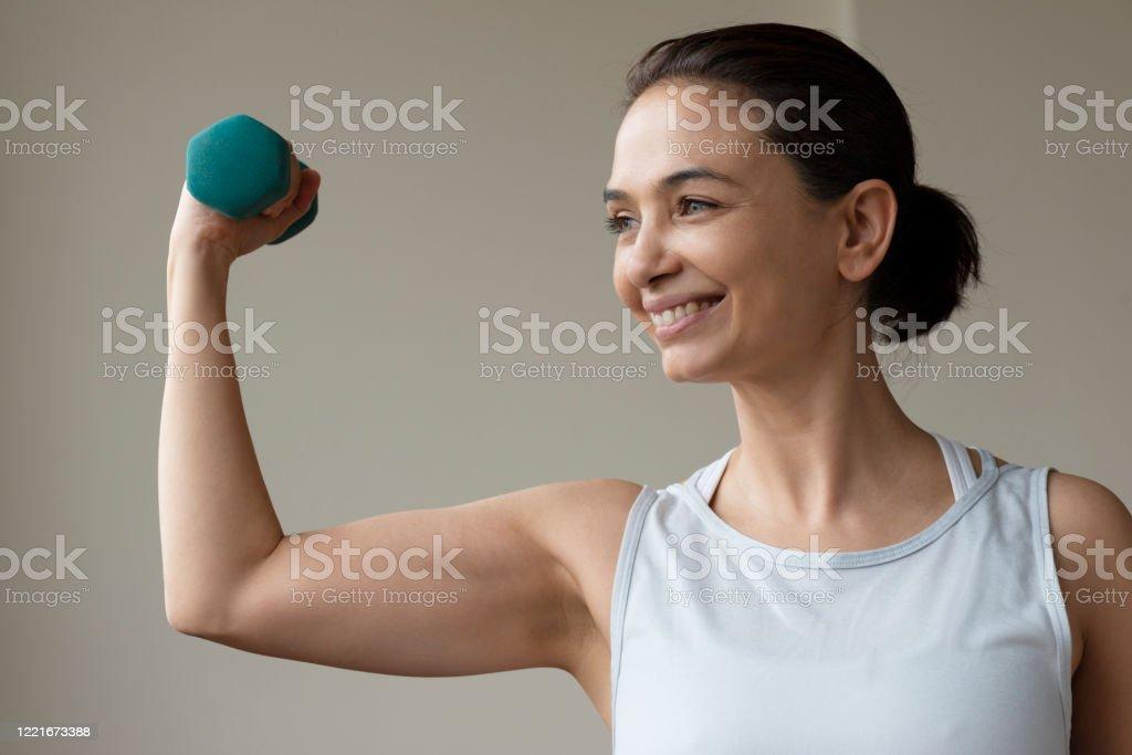Fitness thuis - Royalty-free 40-49 jaar Stockfoto