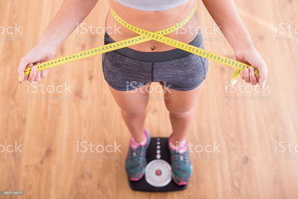 Fitness at home stock photo