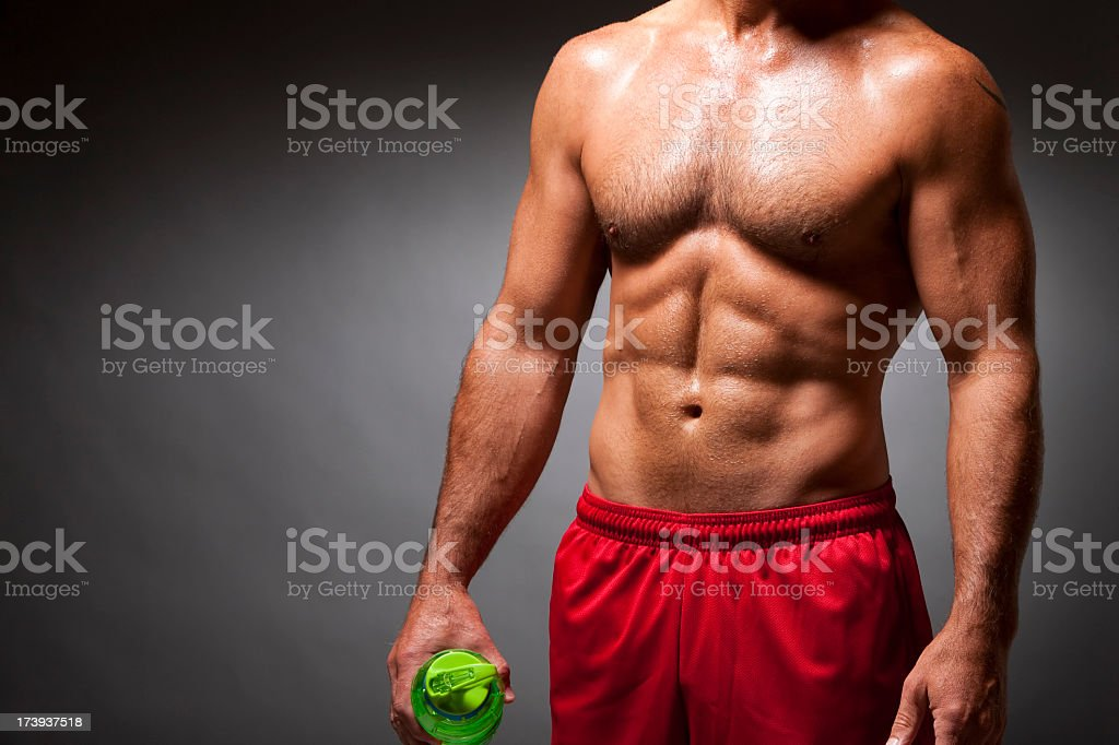 Fitness: Athlete's Muscular Body royalty-free stock photo