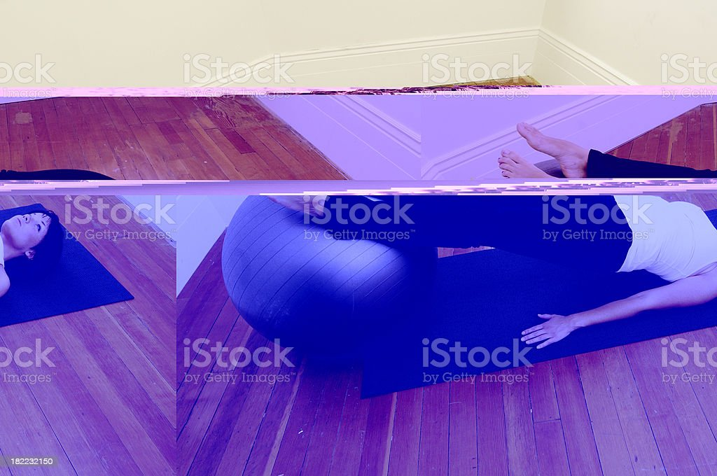 Fitness Ball Exercise royalty-free stock photo