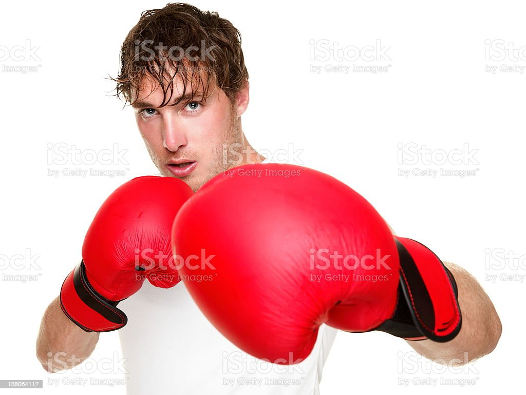 Fitness boxer boxing isolated royalty-free stock photo