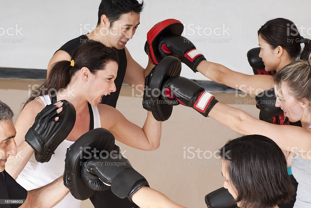 Fitness Boxing Class - Series royalty-free stock photo