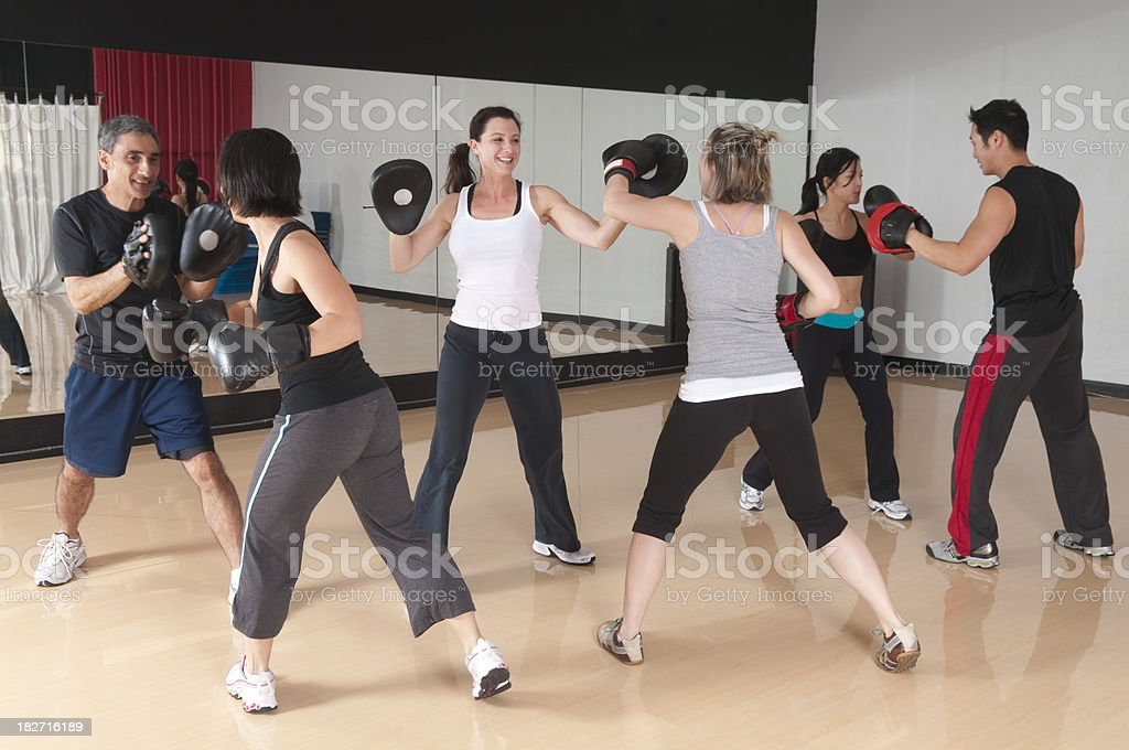 Fitness Boxing Class - Series stock photo