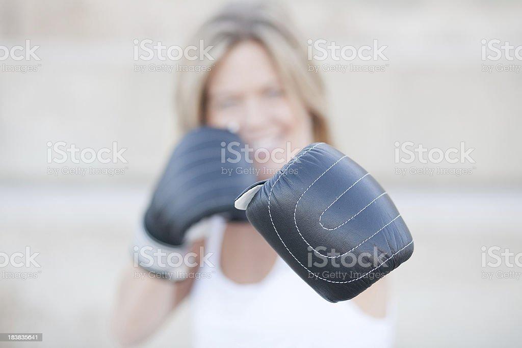 Fitness boxing girl stock photo