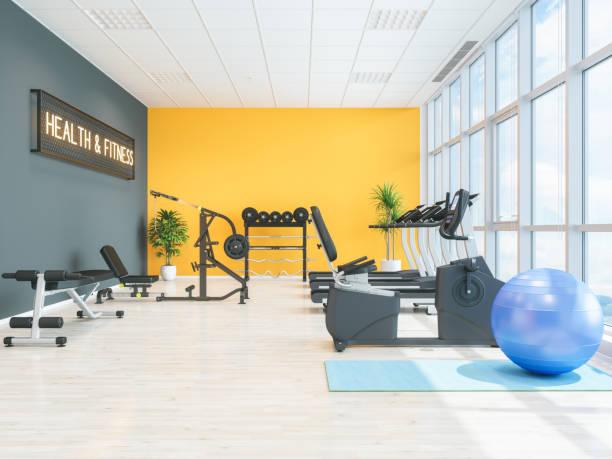 fitness center or health club - palestra foto e immagini stock
