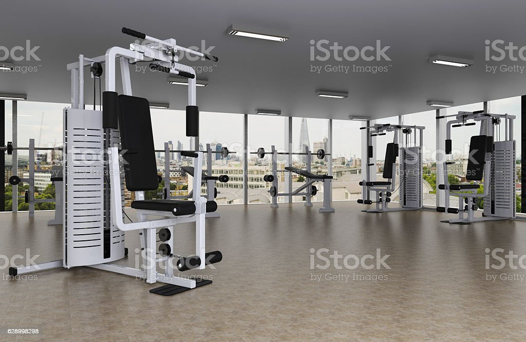 Fitness center stock photo
