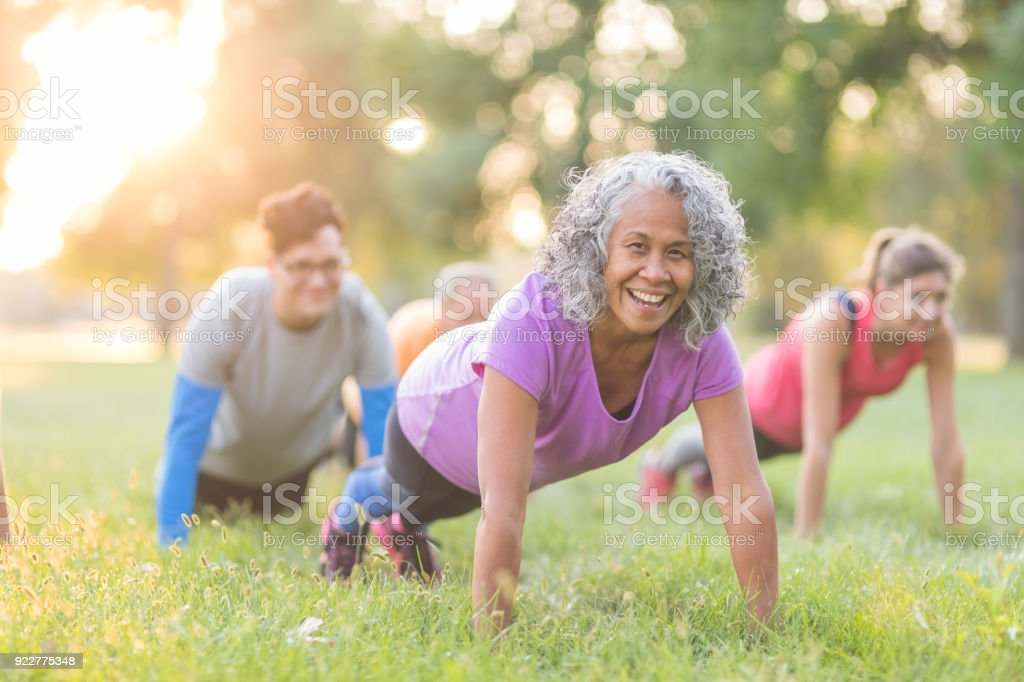 Fitness Class Outside stock photo