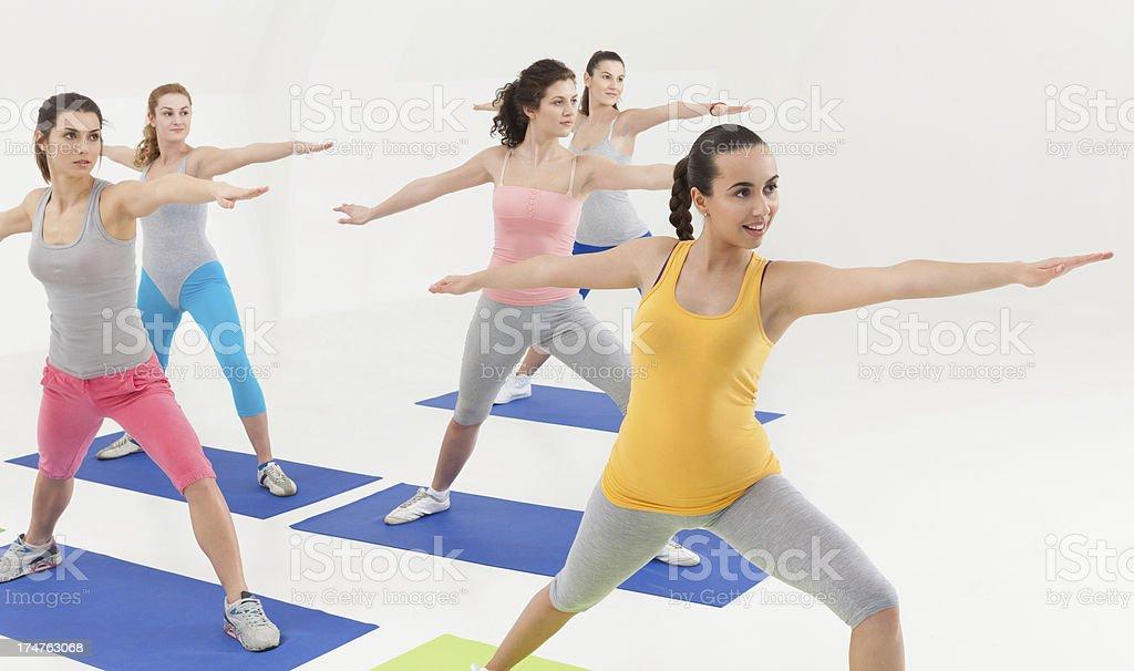 Fitness Class royalty-free stock photo