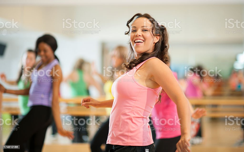 Fitness class. royalty-free stock photo