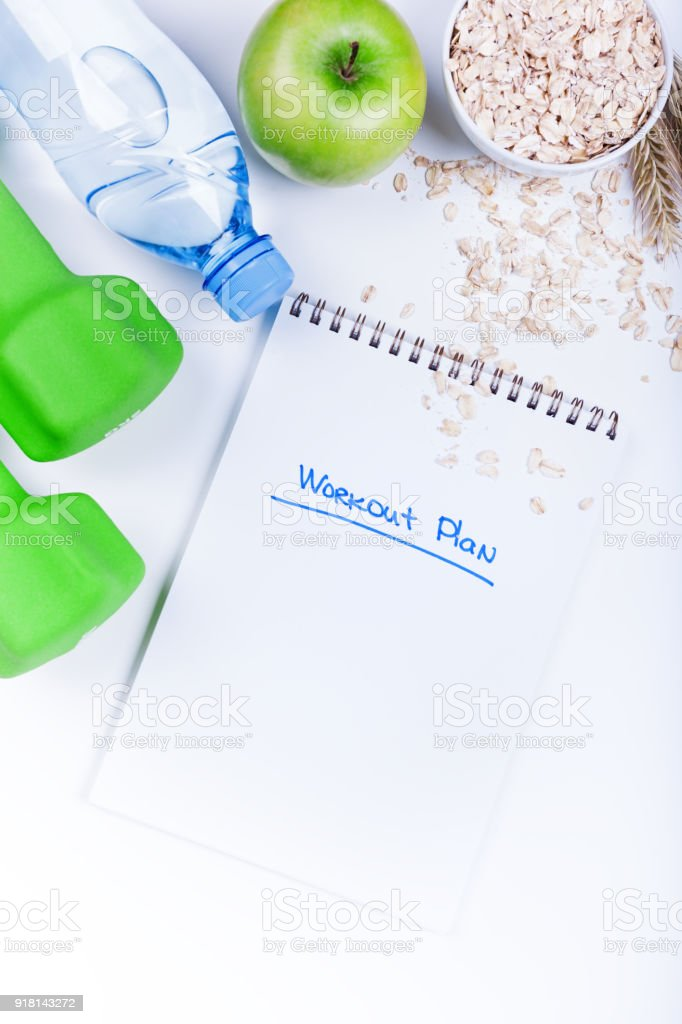 Fitness concept frame stock photo