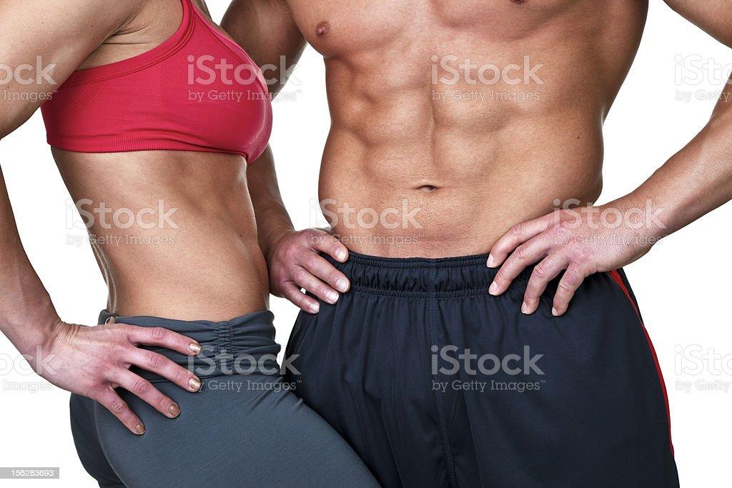 Fitness couple royalty-free stock photo