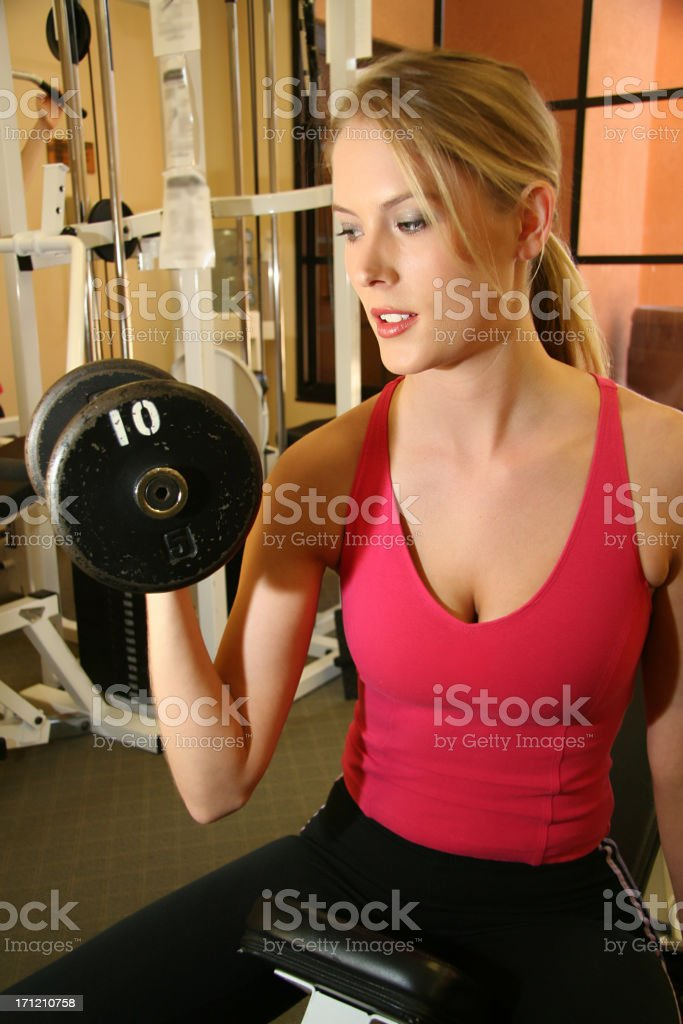 Fitness Curls stock photo