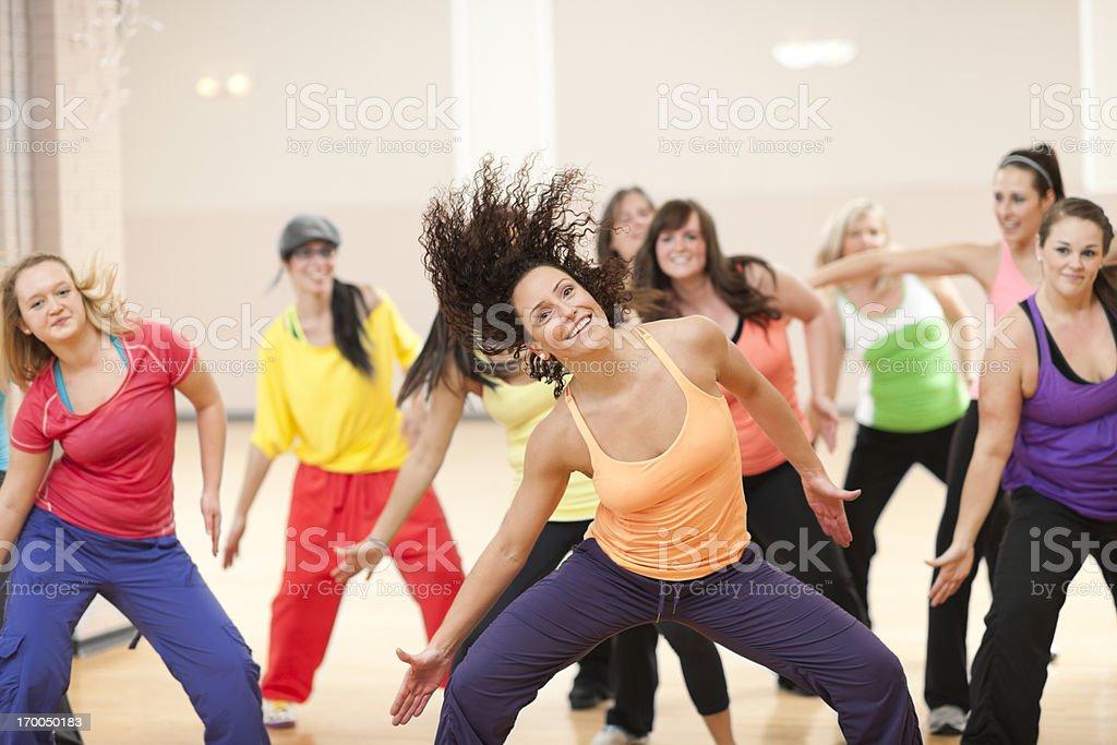 Fitness Dance Class stock photo