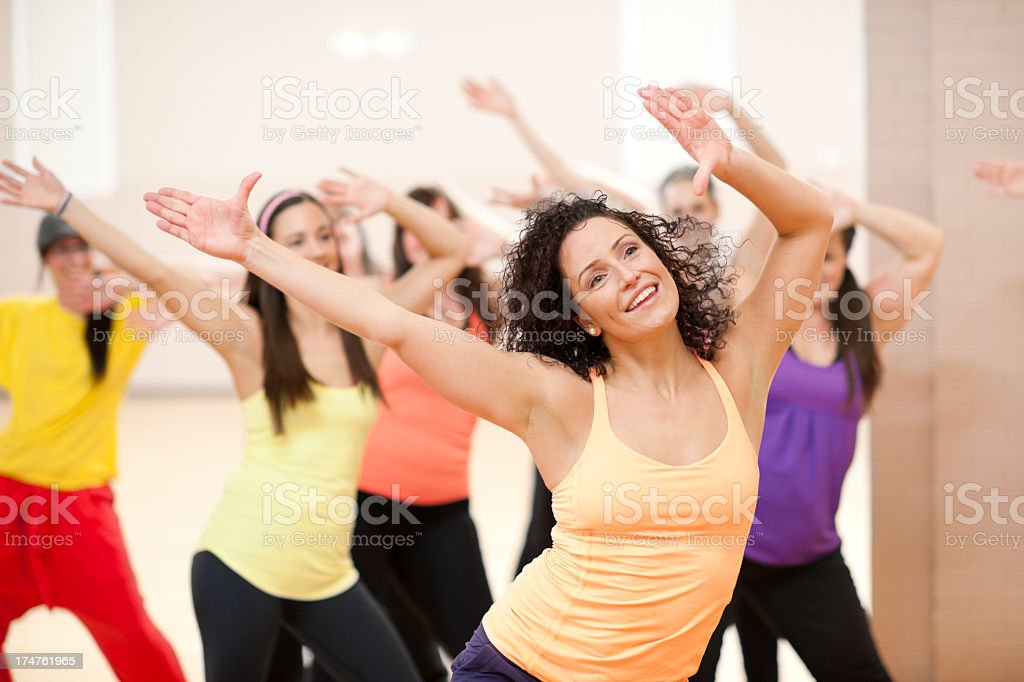 Fitness Dance Class royalty-free stock photo