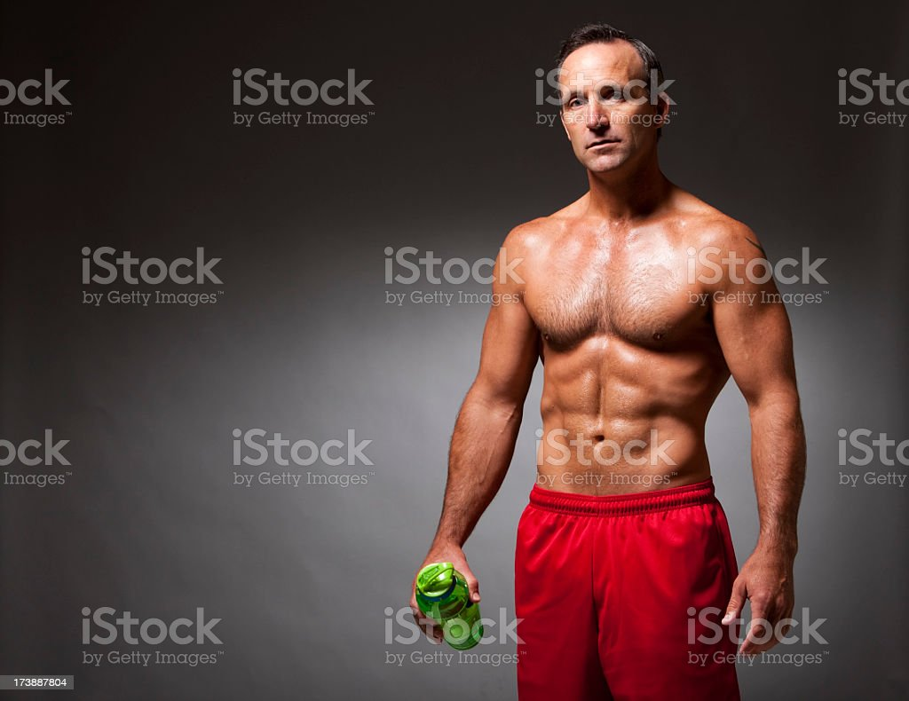 Fitness: Determined Athlete royalty-free stock photo