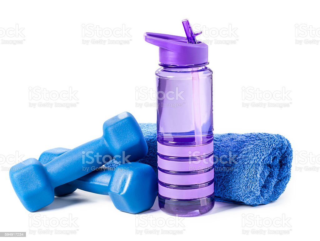 fitness dumbbell stock photo