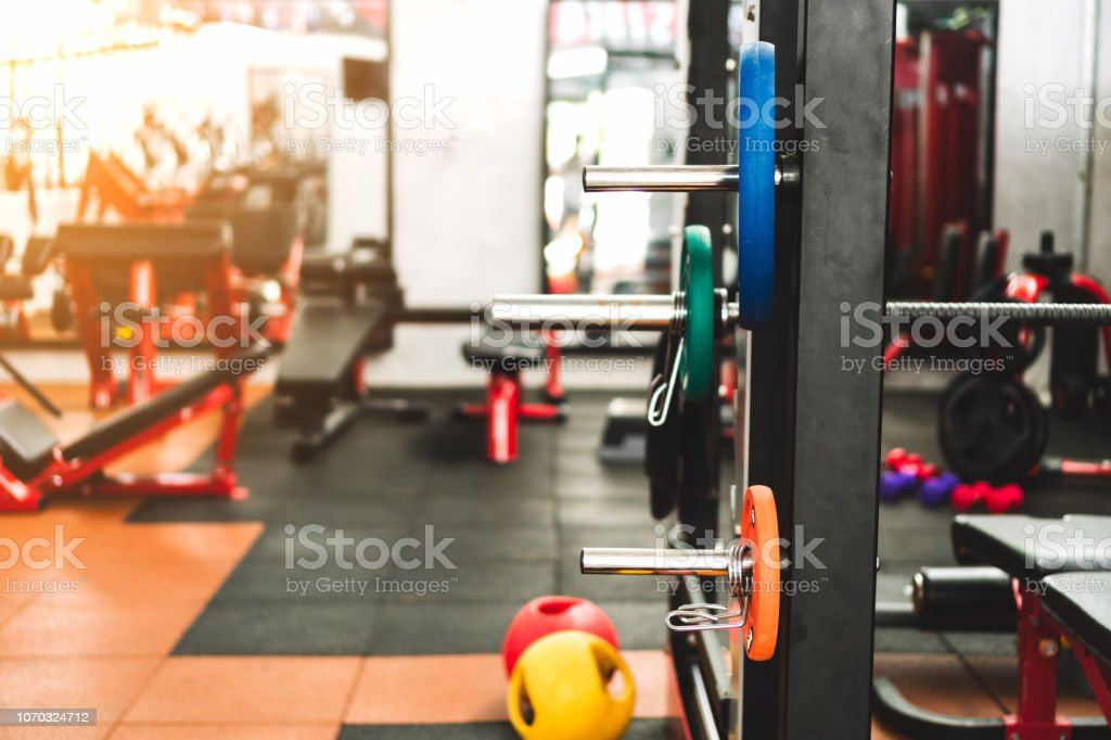 Fitness Equipments And Machines For Workout And Bodybuilding In Gym Stock  Photo - Download Image Now - iStock
