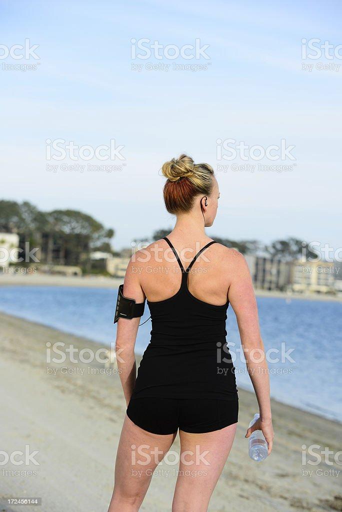 Fitness - Female Runner royalty-free stock photo